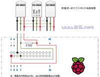 树莓派+多个DS18B20+Yeelink,全天候监测多个点的温度